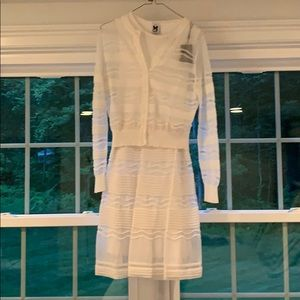 NWT Missoni M white knit dress and cardigan